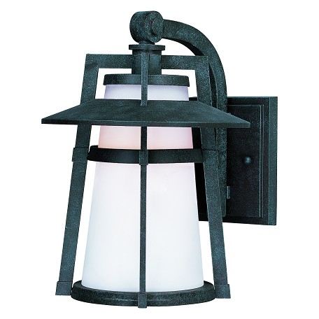 Maxim One Light Satin White Glass Adobe Wall Lantern