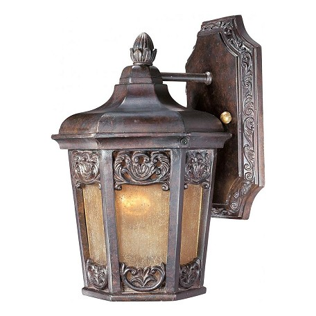 Maxim One Light Colonial Umber Night Shade Glass Wall Lantern