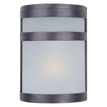 Maxim One Light Oil Rubbed Bronze Frosted Glass Outdoor Wall Light