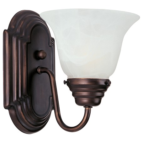 Maxim One Light Oil Rubbed Bronze Marble Glass Wall Light