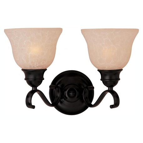 Maxim Two Light Oil Rubbed Bronze Wilshire Glass Vanity