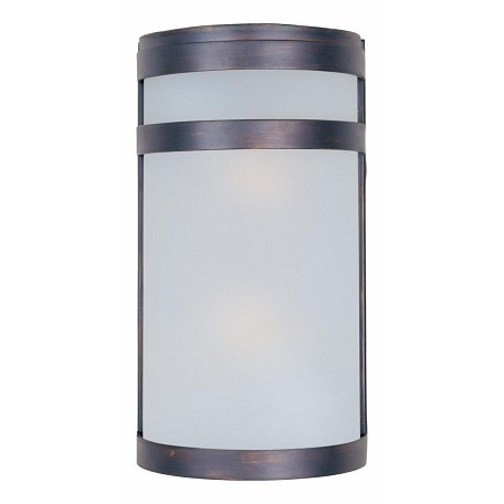 Maxim Two Light Oil Rubbed Bronze Frosted Glass Outdoor Wall Light