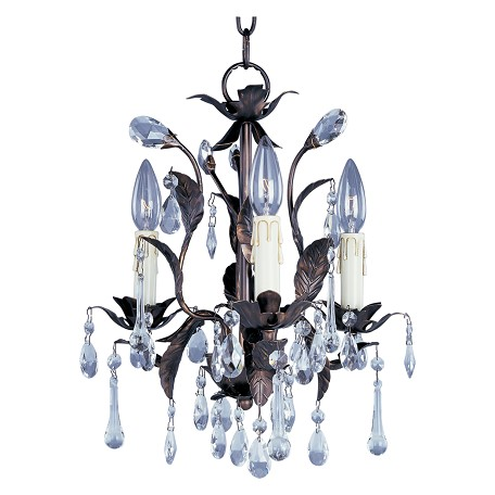 Maxim Three Light Oil Rubbed Bronze Up Mini Chandelier