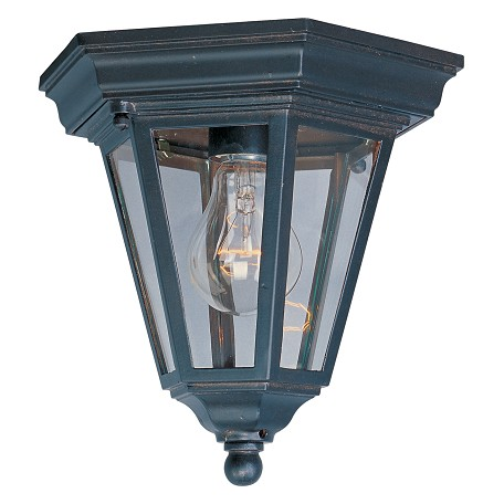 Maxim One Light Empire Bronze Clear Glass Outdoor Flush Mount