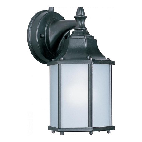 Maxim One Light Empire Bronze Frosted Glass Wall Lantern