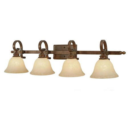 golden champagne bronze four light bathroom fixture from the rockefeller collection champagne
