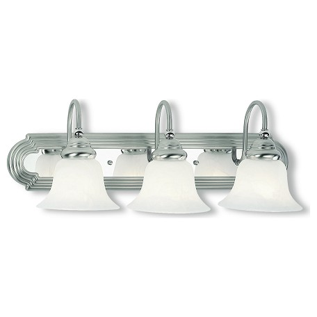 Livex Lighting Brushed Nickel Chrome Vanity Brushed Nickel Chrome 1003-95 From Belmont Collection