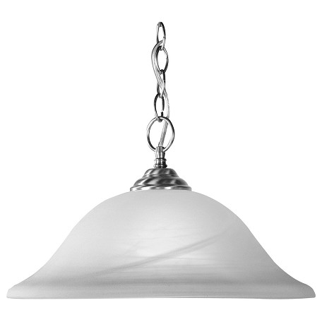 Livex Lighting Brushed Nickel Down Pendant
