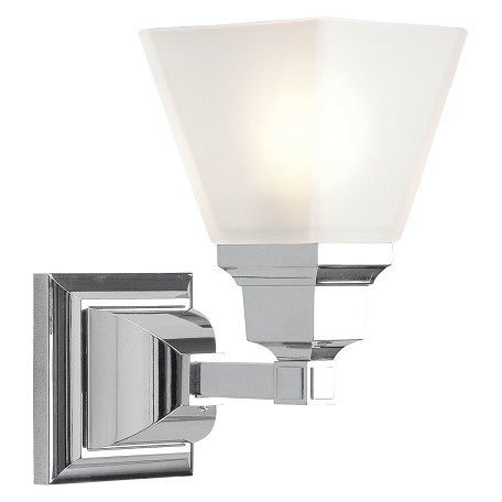 Livex Lighting Chrome Bathroom Sconce