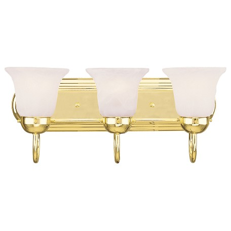 Vanity Lighting Polished Brass : Livex Lighting Polished Brass Vanity Polished Brass 1073-02 From Home Basics Collection