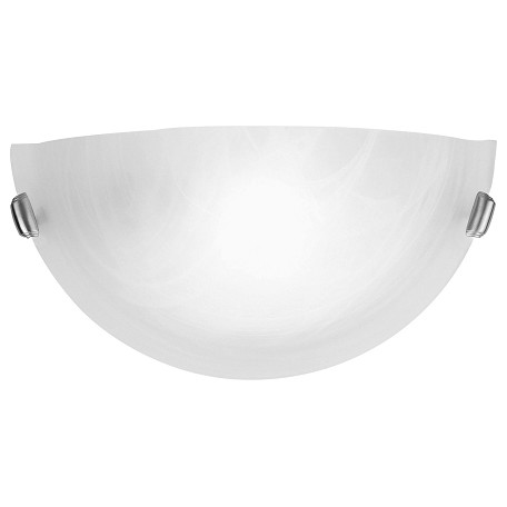 "Livex Lighting Brushed Nickel 1 Light 100 Watt 16"" Wide Wall Sconce With White Alabaster Glass"