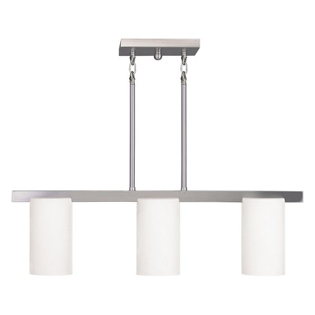 Livex Lighting Brushed Nickel Astoria 3 Light 1 Tier Chandelier