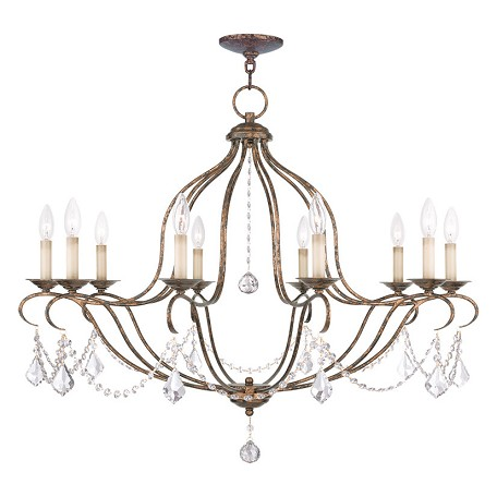 Livex Lighting Ten Light Venetian Golden Bronze Up Chandelier
