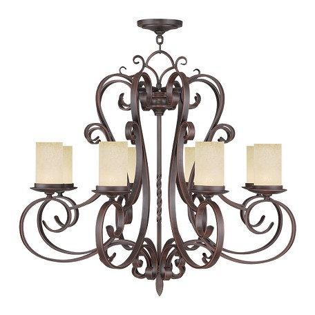 Livex Lighting Imperial Bronze Millburn Manor 7 Light 1 Tier Chandelier