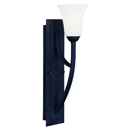 Livex Lighting Black Ridgedale 20 Inch Tall Wall Sconce With 1 Light