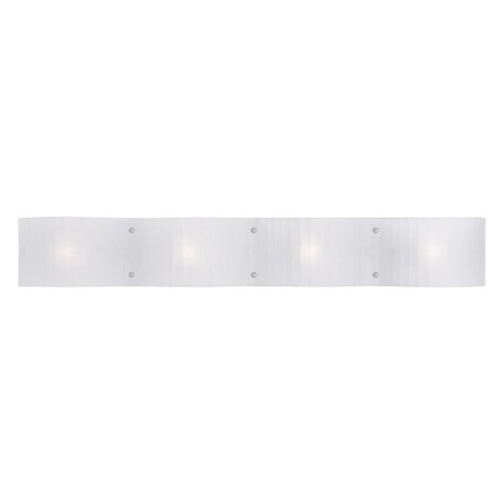 Livex Lighting Open Box Chrome Luna 4 Light Bathroom Vanity Light 1434-05 From Luna Collection