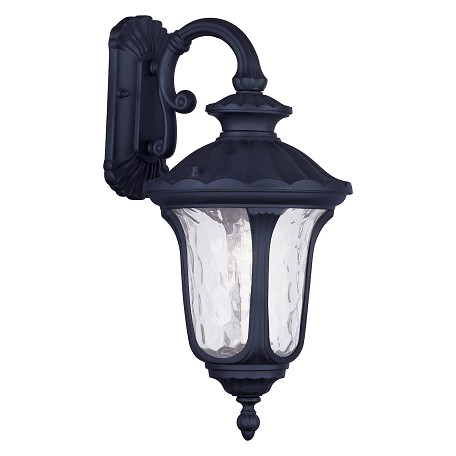 "Livex Lighting Black Oxford 19"" Height 1 Light Outdoor Wall Sconce"