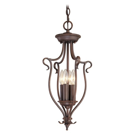 Livex Lighting Imperial Bronze Open Frame Foyer Hall Fixture