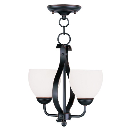 Livex Lighting Olde Bronze Brookside Mini Chandelier With 2 Lights