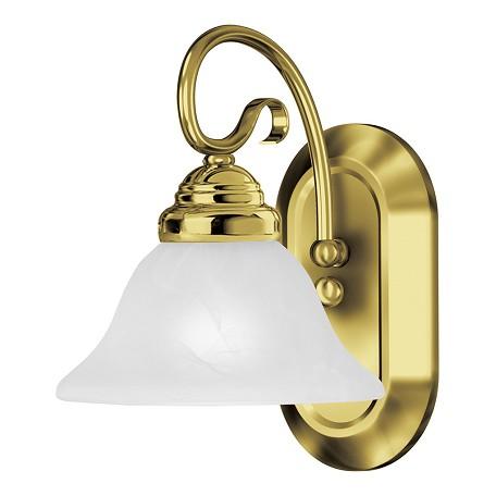 Livex Lighting One Light Polished Brass Bathroom Sconce Polished Brass 6101 02 From Coronado
