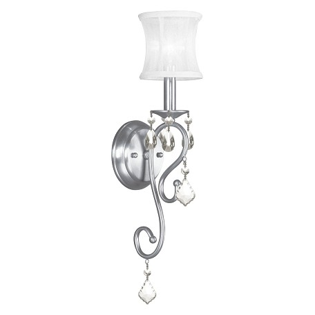 Livex Lighting Brushed Nickel Newcastle 1 Light Wallchiere Sconce
