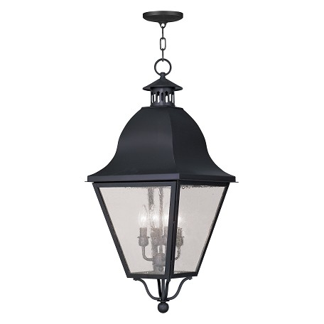Livex Lighting Black Amwell Outdoor Pendant With 4 Lights
