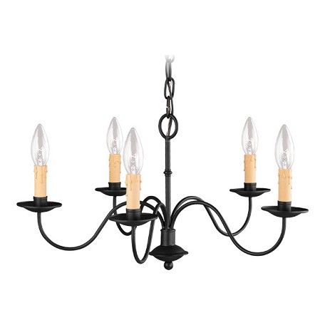 Livex Lighting Black 5 Light Chandelier From Heritage Series