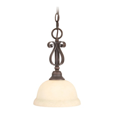 Livex Lighting Imperial Bronze Down Mini Pendant
