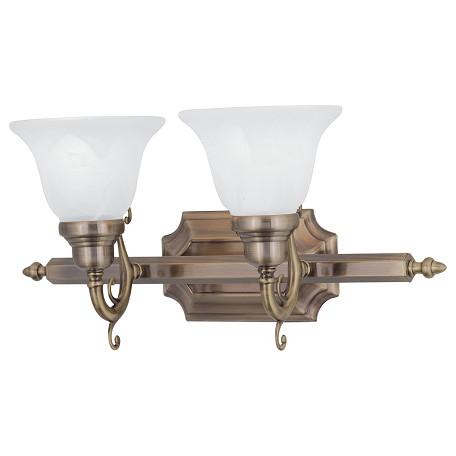 Livex Lighting Antique Brass French Regency 2 Light