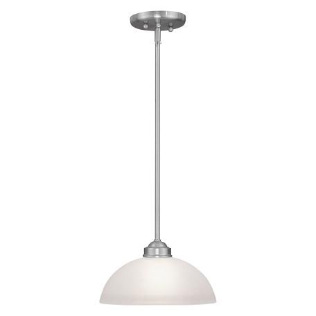 Livex Lighting Brushed Nickel 1 Light 100 Watt Mini