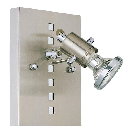 Eglo Nickel and Chrome Fizz Single-Bulb Wall Sconce