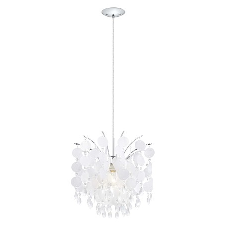Eglo Chrome Fedra Large Ceiling Mount Pendant with Crystal Glass