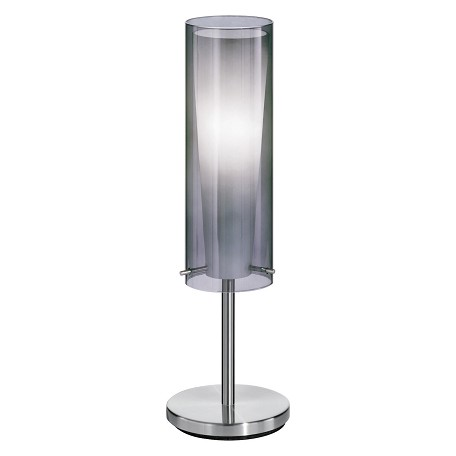Eglo Matte Nickel 1 Light Table Lamp from the Pinto Nero Collection