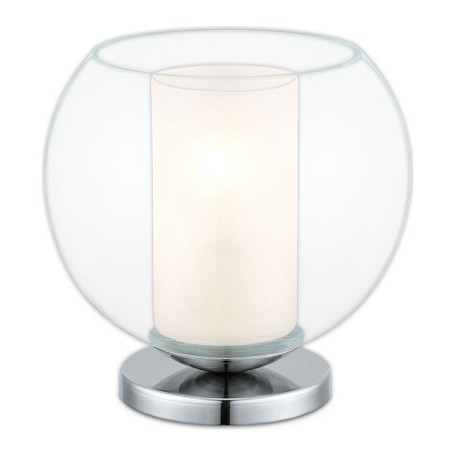 Eglo Satin Nickel Bolsano 1 Light Table Lamp