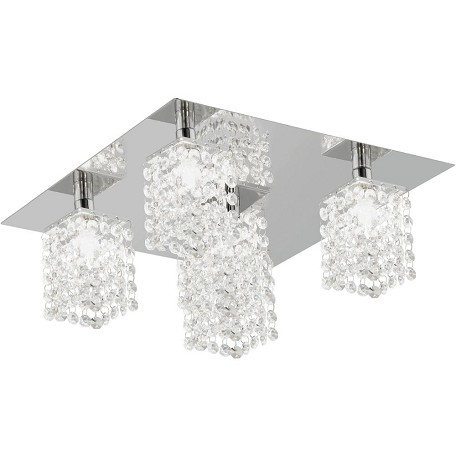 Eglo Chrome Pyton Five-Bulb Ceiling Fixture