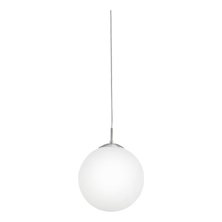 Eglo Matte Nickel Rondo Single-Bulb Pendant