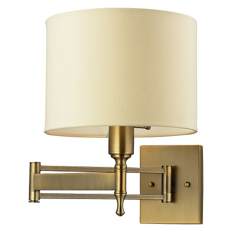 ELK Lighting One Light Antique Brass Wall Light