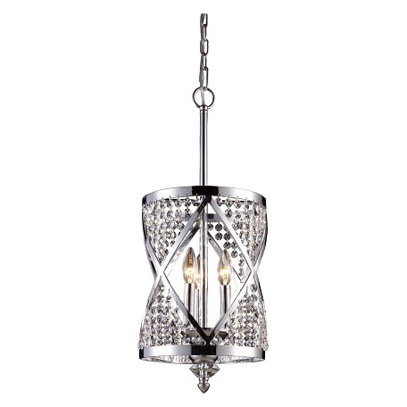 ELK Lighting Three Light Polished Chrome Up Chandelier