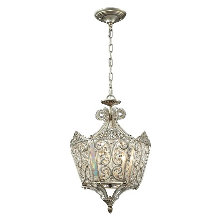 ELK Lighting Aged Silver Villegosa 6 Light Pendant