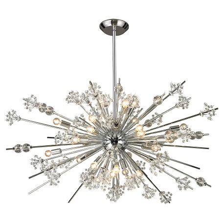 ELK Lighting Starburst Collection 29 Light Chandelier In Polished Chrome