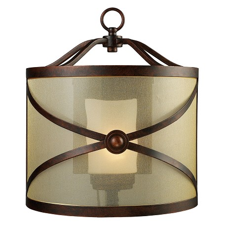 ELK Lighting One Light Classic Bronze Outdoor Wall Light