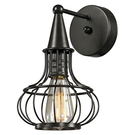 ELK Lighting Yardley Collection 1 Light Sconce In Oil Rubbed Bronze
