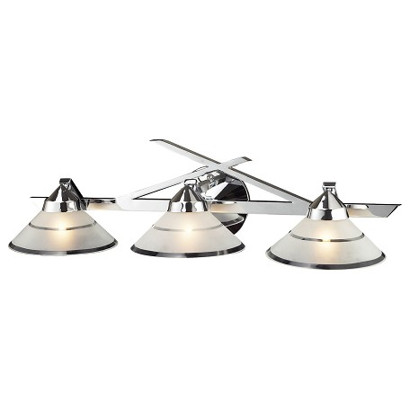 ELK Lighting Three Light Polished Chrome Etched Clear Glass Vanity
