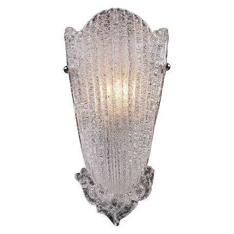 ELK Lighting One Light Antique Silver Leaf Wall Light