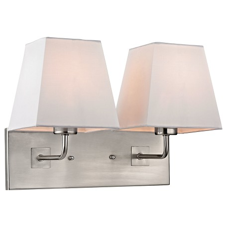 ELK Lighting Beverly Collection 2 Light Sconce In Brushed Nickel
