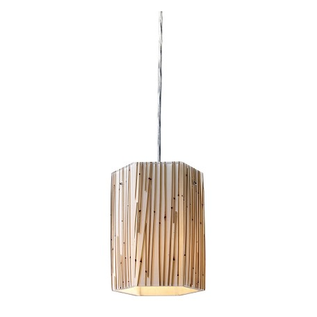 ELK Lighting One Light Polished Chrome Drum Shade Mini Pendant