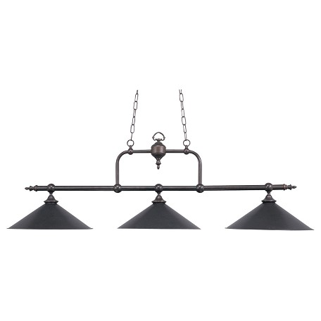 ELK Lighting Three Light Tiffany Bronze Metal Shade Pool Table Light