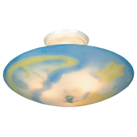 ELK Lighting Three Light White Bowl Semi-Flush Mount