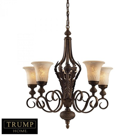 ELK Lighting Five Light Weathered Umber Up Chandelier