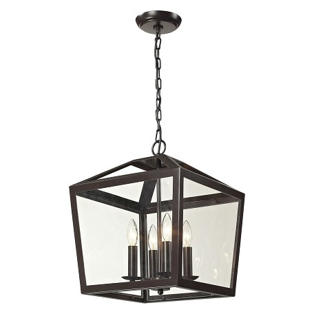 ELK Lighting Alanna Collection 4 Light Semi Flush In Oil Rubbed Bronze